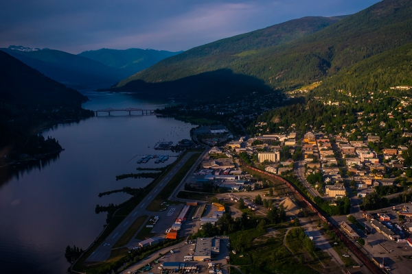 Aerial view of Nelson BC